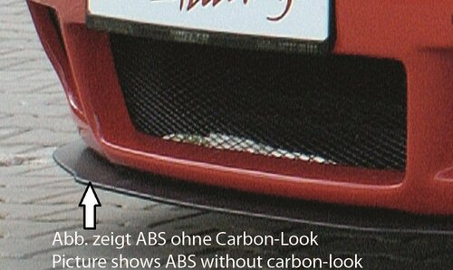 Сплиттер для переднего бампера Rieger 00055025, 00055028 Carbon Look