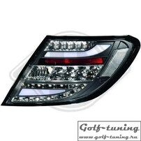 Mercedes W204 11-14 Седан/Купе Фонари светодиодные, черные Lightbar design