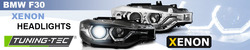 BMW F30/F31 11-15 Фары led angel eyes под ксенон черные