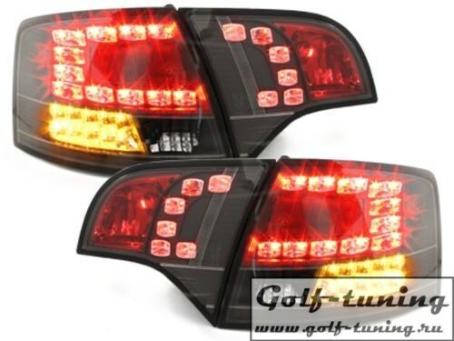 Audi A4 B7 04-08 Универсал Фонари светодиодные, черные с светодиодным поворотником