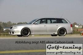 Audi A6 4B 97-04 Накладки на пороги Carbon Look