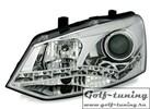 VW Polo 6R 09-14 Фары Devil eyes, Dayline хром