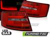 AUDI A6 C6 Седан 04-08 Фонари led bar красно-белые
