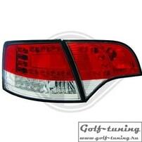 Audi A4 B7 04-08 Универсал Фонари светодиодные, красно-белые с светодиодным поворотником