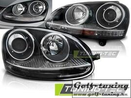 VW Golf 5 Фары с линзами черные