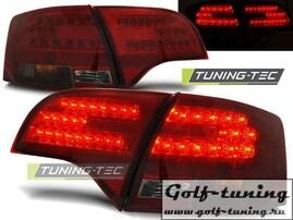 Audi A4 B7 04-08 Универсал Фонари светодиодные, красно-тонированные