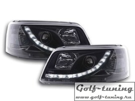 VW T5 03-09 Фары Devil eyes, Dayline черные