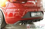 Seat Leon FR (5F) 17- Накладка на задний бампер/диффузор