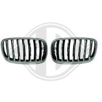 BMW X5/X6 07-13 Решетки радиатора (ноздри) хром