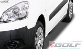 "Citroen Berlingo 08-18/Peugeot Partner 08-18 Накладки на пороги ""Slim"""