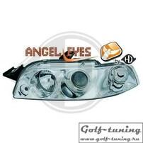 Fiat Punto 93-98 Фары с ангельскими глазками и линзами хром