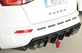 Seat Ateca Cupra 5FP 18-20/20- Накладка на задний бампер/диффузор глянцевая