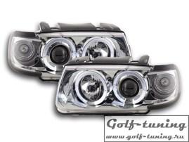 VW Polo 6N 94-99 Фары с линзами и ангельскими глазками хром