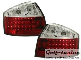 Audi A4 B6 00-04 Седан Фонари светодиодные, красно-белые