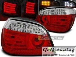 BMW E60 03-07 Фонари светодиодные, красно-белые с светодиодным поворотником