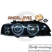 BMW E39 95-00 Фары с ангельскими глазками и линзами черные
