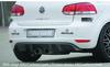 VW Golf 6 Диффузор для заднего бампера в стиле R глянцевый