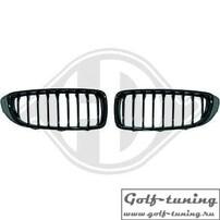 BMW F32/F33/F36 13- Решетки радиатора (ноздри) черные, глянцевые