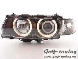 BMW E38 97-02 Фары с линзами и ангельскими глазками черные xenon conversion kit