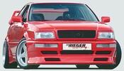 Audi 80 Coupe Накладки на пороги