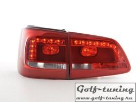 VW Touran 10-15 Фонари светодиодные, красно-белые