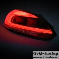 VW Scirocco 08-14 Фонари светодиодные, красно-тонированные Lightbar design