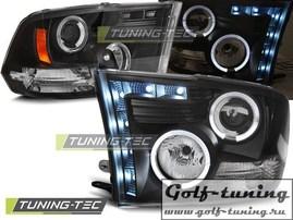Dodge Ram 09-11 Фары Angel eyes черные