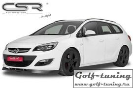 Opel Astra J 09-Накладка на передний бампер