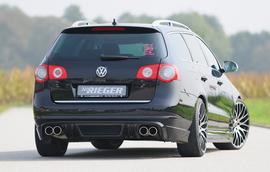 VW Passat B6 Универсал Накладка на задний бампер Carbon Look