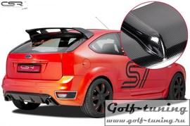 Ford Focus 2 ST HA170 04-08 Диффузор для заднего бампера carbon look