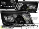 VW Bora 98-05 Фары Devil eyes, Dayline черные