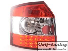 Audi A4 B6 01-02 Универсал Фонари светодиодные, красно-белые