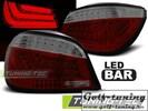 BMW E60 03-07 Фонари светодиодные, красно-тонированные Lightbar с светодиодным поворотником