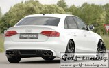 Audi A4/S4 B8 07-11 Диффузор для заднего бампера Carbon Look