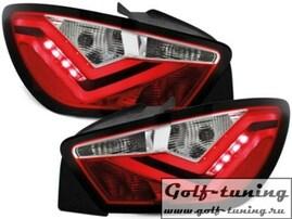 Seat Ibiza 6J 3Дв 08- Фонари светодиодные, красно-белые FR Design