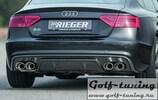 Audi A5/S5 S-Line 11-16 Sportback Накладка на задний бампер/диффузор carbon look