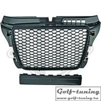 Audi A3 8P 08-12 Решетка радиатора без значка черная