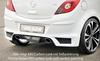 Opel Corsa D 06-14 Накладка на задний бампер Carbon Look