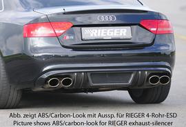 Audi S5 B8/B81 07-11 Sportback Накладка на задний бампер/диффузор
