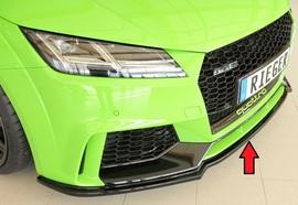 Audi TT RS (8J/8J1-FV/8S) 16-18 Накладка на передний бампер/сплиттер глянцевая