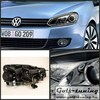 VW Golf 6 Фары Devil eyes, Dayline хром