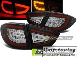 Hyundai IX35 09-13 Фонари светодиодные, черные с светодиодным поворотником