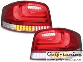 Audi A3 8P 03-08 Фонари светодиодные, красно-белые Lightbar
