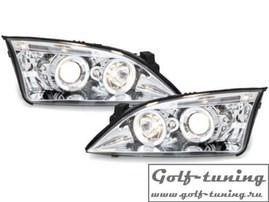 Ford Mondeo 00-07 Фары с линзами и ангельскими глазками хром