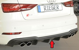 Audi S3 8V Седан/Кабрио 16- Накладка на задний бампер/диффузор