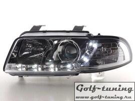 Audi A4 B5 95-99 Фары Devil eyes, Dayline хром