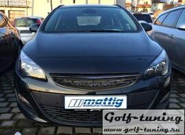 Opel Astra J 13- Решетка без значка черная
