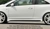 Opel Corsa D 06-14 3Дв Накладки на пороги Carbon Look
