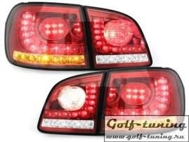 VW Golf 5 Plus 04-14 Фонари светодиодные, красно-белые с светодиодным поворотником R-Look