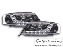 Audi A6 4B 97-01 Фары Devil eyes, Dayline хром